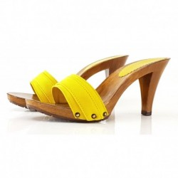 YELLOW CLOGS HEEL 9