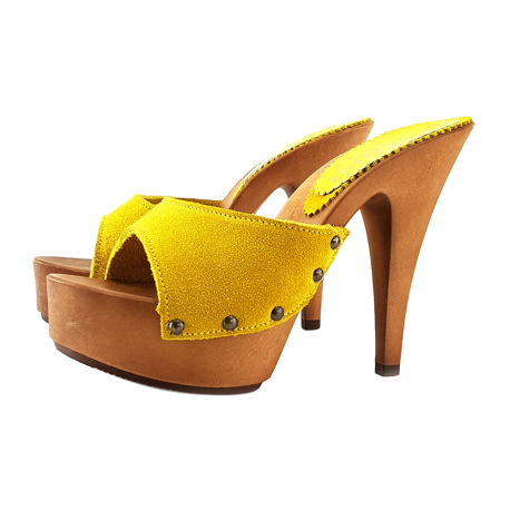 SUEDE CLOGS YELLOW