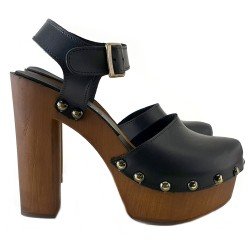 HIGH SWEDISH BLACK CLOG
