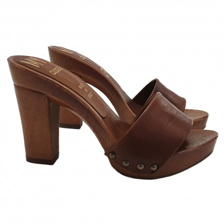 outlet online new appearance cute cheap WOMEN'S COMFORTABLE HEEL CLOG LEATHER STYLE - ONLINE SALE OF LEATHER CLOGS