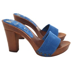 BLU ROYAL CLOGS IN SUEDE
