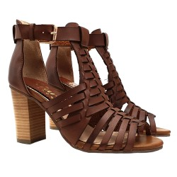 GLADIATOR SANDAL COLOUR LEATHER