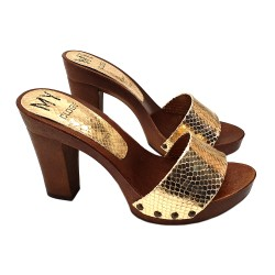 GOLDEN CLOGS SNAKE EFFEKT COMFY HEEL