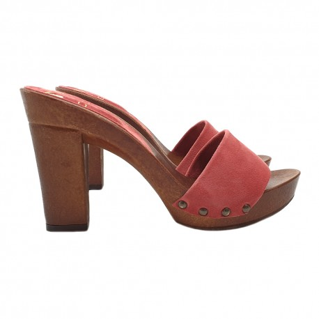 CLOGS PEACH COLOR COMFY HEEL