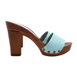 EMERALD CLOGS IN LEATHER COMFY HEEL