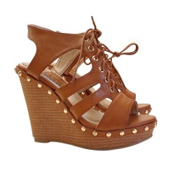 WEDGE CLOGS IN LEATHER COLOUR