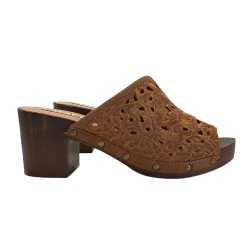 CLOGS CAMEL IN LACE