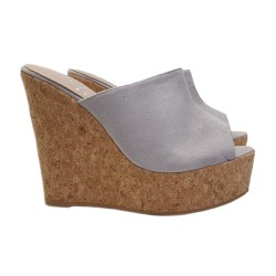WEDGE CLOGS ICE-COLOUR IN CORK HEEL 13