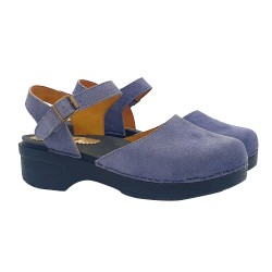 LOW DUTCH CLOGS IN NAVY SUEDE
