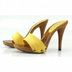 YELLOW CLOGS HEEL 12